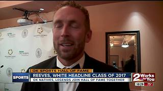Jason White, Bryant Reeves inducted into Oklahoma Sports Hall Of Fame - Video