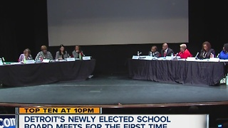 Detroit's newly elected school board meets for the first time - Video