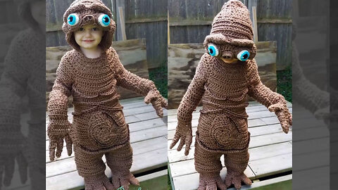 Mother of four creates amazing Halloween crochet costumes