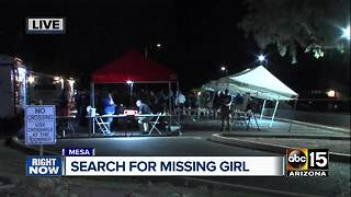 Eight-year-old Mesa girl reported missing - Video