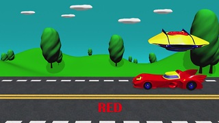 Learn colors with ufo and cars batman  - Video