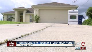 TVs, rims, jewelry stolen from Lehigh Acres home - Video