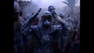 Huge Greek Flour Fight - Video