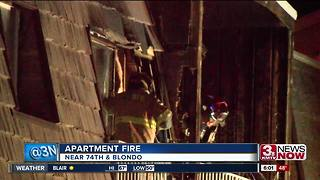 Three displaced after fire near 74th and Blondo - Video