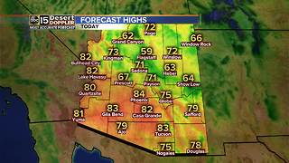 Highs stay in the low to mid 80s in the Valley - Video