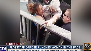 Police release name of Flagstaff officer accused of punching woman - Video