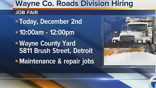 Nearly 30 positions are open in the Wayne County Roads Division - Video