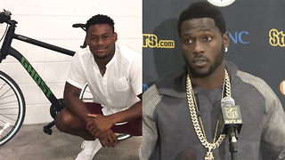Antonio Brown Offers Reward for Teammate JuJu Smith Schuster's Stolen Bike - Video