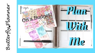 Plan With Me: Planning On A Budget, $6.50 Spread  - Video