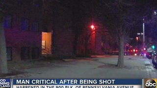 Man critical after being shot on Pennsylvania Avenue - Video