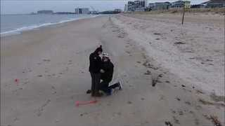 Man Proposes on Beach with Help From a Drone - Video