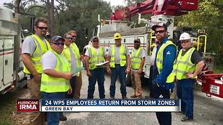 WPS workers home after hurricane relief work - Video
