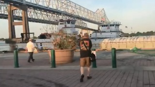 Barge Hits Pier Outside New Orleans' Mardi Gras World