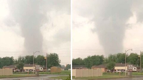 Giant Twister Tears Through A Small Oklahoma Town Leaving Residents Petrified For Their Families And Livelihoods