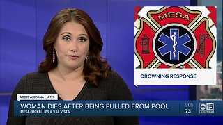 Woman dies after being pulled from Mesa pool near McKellips and Val Vista
