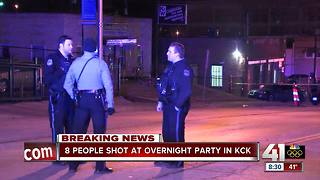 Eight shot, one killed in KCK building - Video