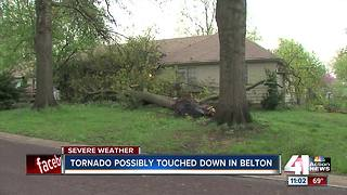 Tornado possibly touched down in Belton - Video