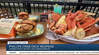Phillips Crab Deck reopens, offering pickup, delivery, and curbside services