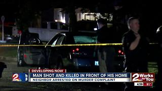 Man shot and killed in front of his home - Video