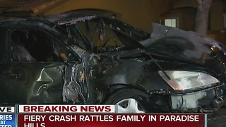 Fiery crash rattles family in Paradise Hills - Video