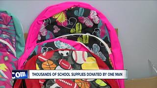 Niagara Falls businessman donates school supplies - Video