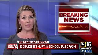 16 children treated after bus crash in Apache Junction