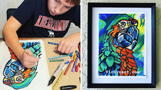 Nonverbal 12-year-old with autism unlocks artistic gift during pandemic