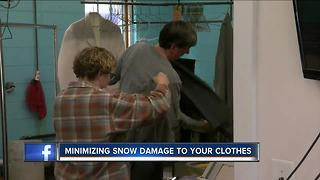 Minimizing snow and salt damage to your clothes - Video