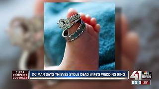 KC man wants stolen wedding rings returned