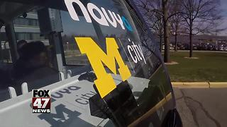 Driverless shuttles introduced at University of Michigan - Video