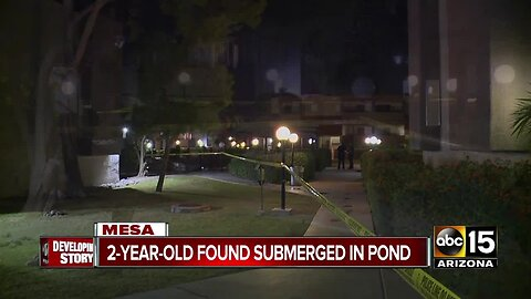 2-year-old nearly drowns in pond in Mesa