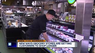 How grocery stores are getting you to shop longer - Video