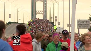 Thousands take part in Labor Day walk on Mackinac Bridge - Video