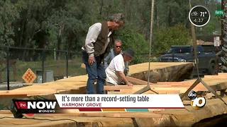 San Diego Torrey Pine gets new life as massive table - Video