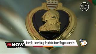Purple Heart Day leads to touching moments - Video