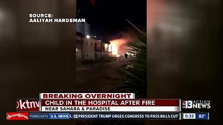 Child in hospital after fire near Las Vegas Strip