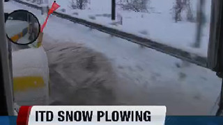 I.T.D. snow plow ride along - Video