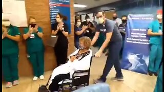 WATCH: 81-year-old Tucson woman discharged from hospital after battling COVID-19