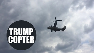 Huge US military aircraft hover over London park as Trump visit gets underway - Video