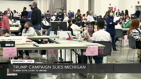Trump campaign sues Michigan over ballot count