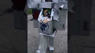 Baby Wins Halloween With Epic Robot Costume - Video