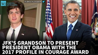 JFK's Grandson To Present President Obama With Profile In Courage Award - Video