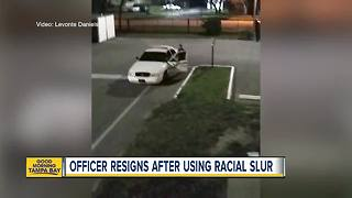 Video shows St. Pete officer using racial slur