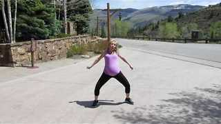 Pregnant Woman Demonstrates Impressive Dance Moves With Ridiculous Energy - Video