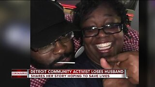 Detroit woman loses husband to COVID-19, shares story hoping to save lives