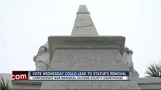 Vote Wednesday could lead to Confederate war memorial's removal - Video