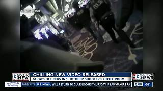 Newly-released video shows officers working way up to shooter's suite - Video