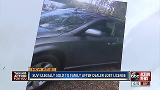 SUV illegally sold to family after dealer lost license