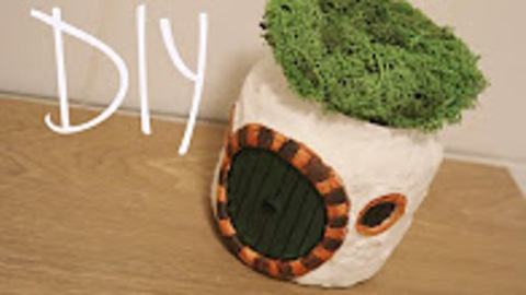 DIY: how to make a hobbit house jar