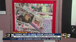 Baltimore City students using art to raise awareness and combat violence - Video